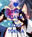 KEEP CALM AND LOVE TOKIYA - Personalised Tea Towel: Premium