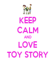KEEP CALM AND LOVE TOY STORY - Personalised Tea Towel: Premium