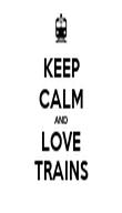 KEEP CALM AND LOVE TRAINS - Personalised Tea Towel: Premium