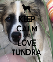 KEEP CALM AND LOVE TUNDRA - Personalised Tea Towel: Premium