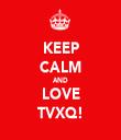 KEEP CALM AND LOVE TVXQ! - Personalised Tea Towel: Premium