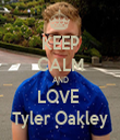 KEEP CALM AND LOVE  Tyler Oakley - Personalised Tea Towel: Premium