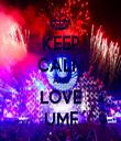 KEEP CALM AND LOVE UMF - Personalised Tea Towel: Premium
