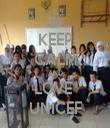 KEEP CALM AND LOVE  UNICEF - Personalised Tea Towel: Premium