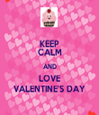 KEEP CALM AND LOVE VALENTINE'S DAY - Personalised Tea Towel: Premium
