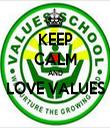 KEEP CALM AND LOVE VALUES  - Personalised Tea Towel: Premium
