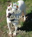KEEP CALM AND Love Villalobos - Personalised Tea Towel: Premium