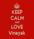 KEEP CALM AND LOVE Vinayak - Personalised Tea Towel: Premium
