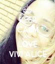 KEEP CALM AND LOVE VIVI ALICE - Personalised Tea Towel: Premium