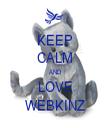 KEEP CALM AND LOVE WEBKINZ - Personalised Tea Towel: Premium