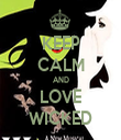 KEEP CALM AND LOVE WICKED - Personalised Tea Towel: Premium