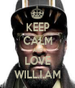KEEP CALM AND LOVE WILL.I.AM - Personalised Tea Towel: Premium