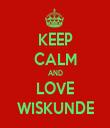 KEEP CALM AND LOVE WISKUNDE - Personalised Tea Towel: Premium