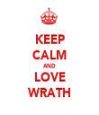 KEEP CALM AND LOVE WRATH - Personalised Tea Towel: Premium