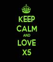 KEEP CALM AND LOVE X5 - Personalised Tea Towel: Premium
