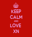 KEEP CALM AND LOVE  XN - Personalised Tea Towel: Premium