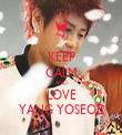 KEEP CALM AND LOVE YANG YOSEOB - Personalised Tea Towel: Premium