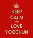 KEEP CALM AND LOVE YOOCHUN - Personalised Tea Towel: Premium