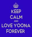 KEEP CALM AND LOVE YOONA FOREVER  - Personalised Tea Towel: Premium
