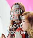KEEP CALM AND LOVE YoonTae - Personalised Tea Towel: Premium