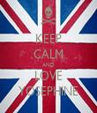 KEEP CALM AND LOVE YOSEPHINE - Personalised Tea Towel: Premium