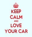 KEEP CALM AND LOVE YOUR CAR - Personalised Tea Towel: Premium