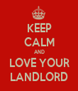 KEEP CALM AND LOVE YOUR LANDLORD - Personalised Tea Towel: Premium