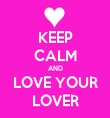 KEEP CALM AND LOVE YOUR LOVER - Personalised Tea Towel: Premium