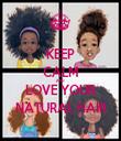 KEEP CALM AND LOVE YOUR NATURAL HAIR - Personalised Tea Towel: Premium