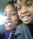 KEEP CALM AND Love Zayin - Personalised Tea Towel: Premium