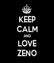 KEEP CALM AND LOVE ZENO - Personalised Tea Towel: Premium