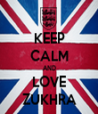 KEEP CALM AND LOVE ZUKHRA - Personalised Tea Towel: Premium