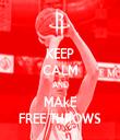 KEEP CALM AND MAkE FREE THROWS - Personalised Tea Towel: Premium