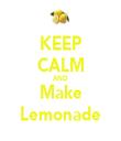 KEEP CALM AND Make Lemonade - Personalised Tea Towel: Premium