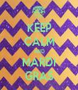 KEEP CALM AND MARDI GRAS - Personalised Tea Towel: Premium
