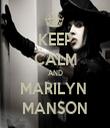 KEEP CALM AND MARILYN  MANSON - Personalised Tea Towel: Premium
