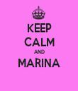 KEEP CALM AND MARINA  - Personalised Tea Towel: Premium