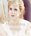 KEEP CALM AND Marry Emma Watson - Personalised Tea Towel: Premium