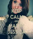 KEEP CALM AND MARRY JESSICA - Personalised Tea Towel: Premium