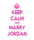 KEEP CALM AND MARRY JORDAN - Personalised Tea Towel: Premium