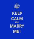 KEEP CALM AND MARRY ME! - Personalised Tea Towel: Premium