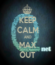 KEEP CALM AND MAX OUT - Personalised Tea Towel: Premium