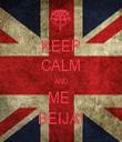 KEEP CALM AND ME  BEIJA! - Personalised Tea Towel: Premium