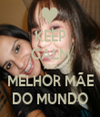KEEP CALM AND MELHOR MÃE DO MUNDO - Personalised Tea Towel: Premium