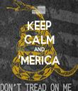 KEEP CALM AND 'MERICA  - Personalised Tea Towel: Premium