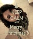 KEEP CALM AND Merry  Christmas ! - Personalised Tea Towel: Premium