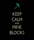 KEEP CALM AND MINE BLOCKS - Personalised Tea Towel: Premium