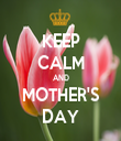 KEEP CALM AND MOTHER'S DAY - Personalised Tea Towel: Premium