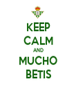 KEEP CALM AND MUCHO BETIS - Personalised Tea Towel: Premium