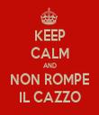 KEEP CALM AND NON ROMPE IL CAZZO - Personalised Tea Towel: Premium